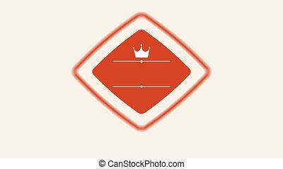 kroon, etiket