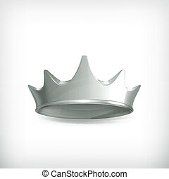kroon, vector, zilver