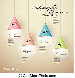 kroonluchter, lichtgevend, infographic, communie, 3d
