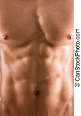 krop, sexet, nude, muskuløse, mand
