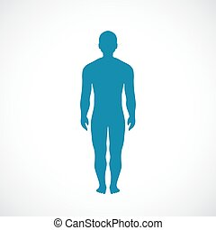 krop, silhuet, menneske, ikon