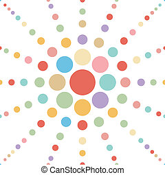 kropka, abstrakcyjny, pastel, seamless, kwiat