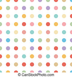 kropka, pastelowe tło, seamless, vect