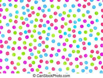 kropka polki, tło, barwiony, markiery, dla, różny, design., handc