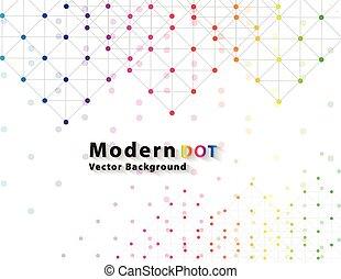 kropka, sieć, kolor, technologia