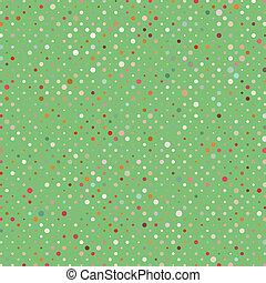 kropkuje, barwny, polka, abstrakcyjny, pattern., eps, 8