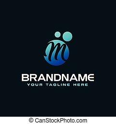 Kropkuje G Purpurowy M Koło Projektować Litera Logo Bańki