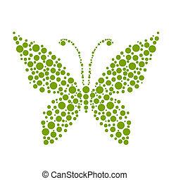kropkuje, motyl, formułować, projektować, twój