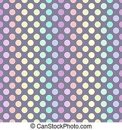 kropkuje, pastel, polka, seamless, próbka