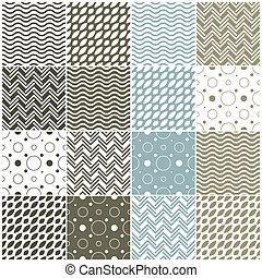 kropkuje, polka, seamless, szewron, patterns:, geometryczny...