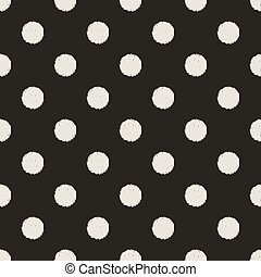 kropkuje, próbka, seamless, polka