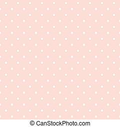 kropkuje, różowy, wektor, polka, tło