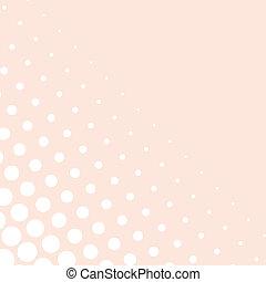 kropkuje, tło, wektor, różowy, biały
