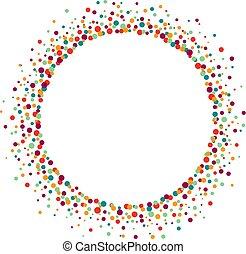 kropkuje, wektor, barwny, ułożyć, ilustracja, tło, biały