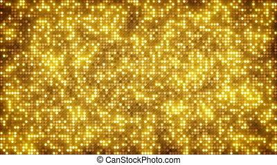 kropkuje, złoty, blask, loopable, tło