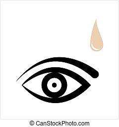 kropla, oko, ikona