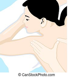 kropp, fyllda, massera