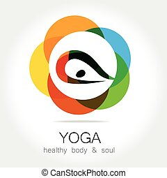 kropp, yoga, hälsa, själ