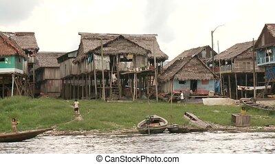 krottenwijk, stad, op, amzon, southamerica