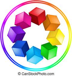kroužek, trojmocnina, ilustrace