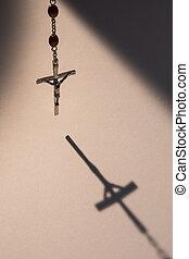 krucyfiks, odlew cień