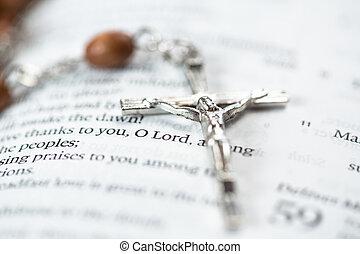 krucyfiks, odpoczynkowy dalejże, przedimek określony przed rzeczownikami, biblia