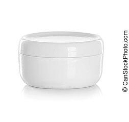 krug, oder, leer, verpackung, für, kosmetisch, produkt