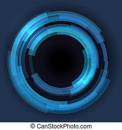 kruh, abstraktní, vektor, technika, grafické pozadí