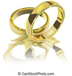 kruhy, dva, svatba