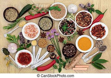 kruid, verzameling, specerij