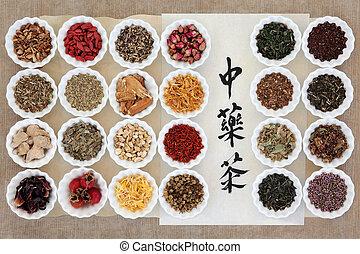 kruid, verzameling, thee