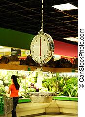 kruidenierswinkel, schub, gewicht