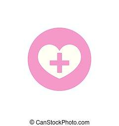 kruis, bewustzijn, kanker, hart