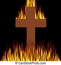 kruis, burning