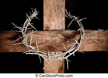 kruis, en, kroon