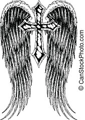 kruis, vleugel