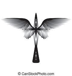 kruis, vleugels