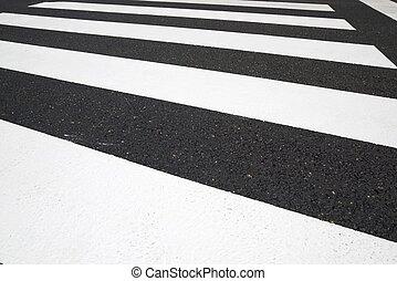 kruising, achtergrond, zebra