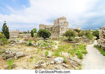 kruisvaarder, kasteel, byblos, libanon