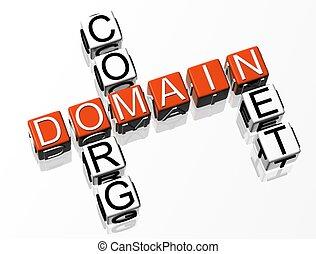 kruiswoordraadsel, domein, 3d