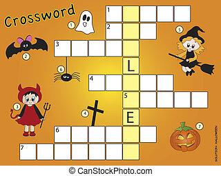 kruiswoordraadsel, halloween