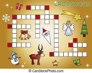 kruiswoordraadsel, kerstmis
