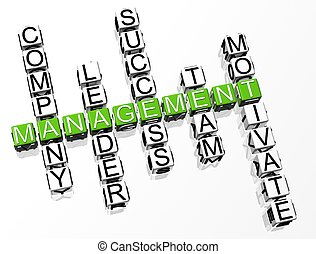 kruiswoordraadsel, management