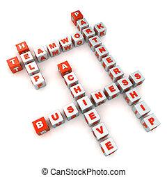 kruiswoordraadsel, teamwork