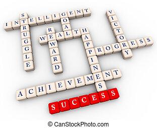 kruiswoordraadsel, van, succes