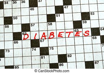kruiswoordraadsel, woord, diabetes
