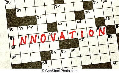 kruiswoordraadsel, woord, innovatie