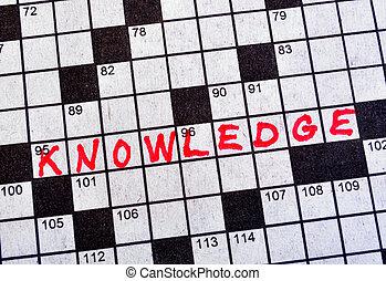 kruiswoordraadsel, woord, kennis