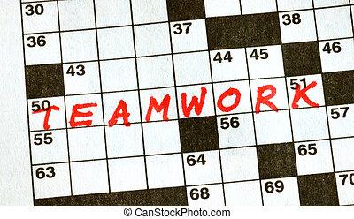 kruiswoordraadsel, woord, teamwork