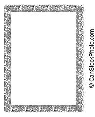 krullend, frame, black , kalligrafie, barok, kalligrafie